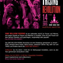 Design und Druckbeauftragung Flyer One Billion Rising